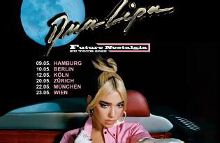 Freuen Sie sich auf die Tour des zweiten Albums Future Nostalgia am 23.05.2022 in der Wiener Stadthalle